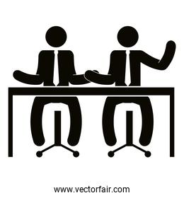 business people in the office meeting