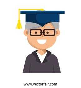 graduated avatar character icon