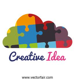 cloud with puzzle pieces creative ideas