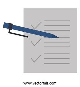 checklist paper with pen