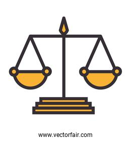 scale justice isolated icon