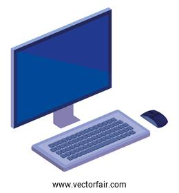 desktop computer isometric icon