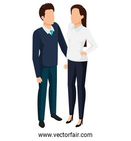 business couple avatars characters