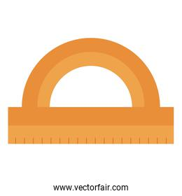 protractor rule isolated icon