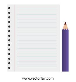 paper sheet with color pencil