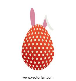 egg paint with ears bunny easter decoration