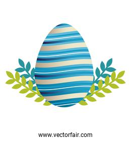 egg paint easter with floral decoration