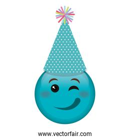 emoji face with party hat