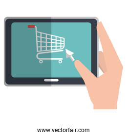 electronic commerce with tablet