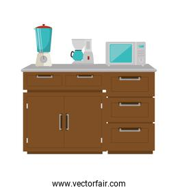 drawer wooden with utensils