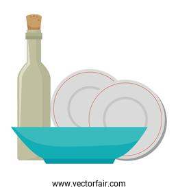dishes and utensils icons