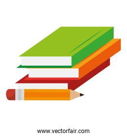 education text books with pencil