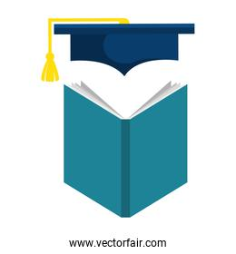education text books with graduation hat