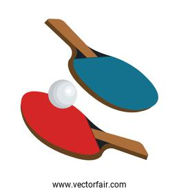 ping pong rackets and ball