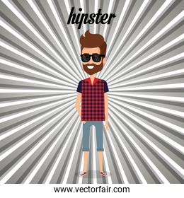 man style hipster character