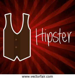 vest style hipster poster