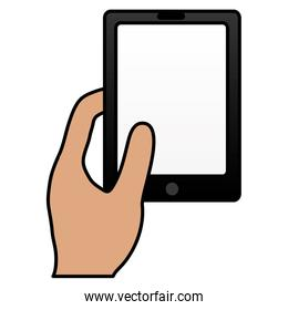 user with smartphone device