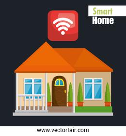 smart house with wifi signal service