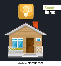 smart house with bulb light service