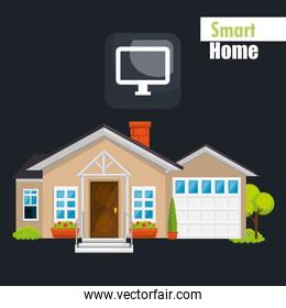 smart house with display computer service