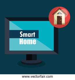 smart home with computer display