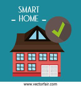 smart house with check symbol service