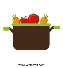 kitchen pot with vegetables