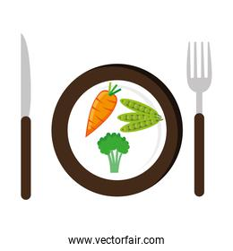 dish with vegetables healthy food