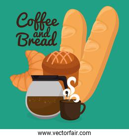 delicious breads and coffee label