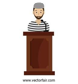 prisoner in stage avatar character