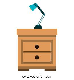 drawer with lamp icon