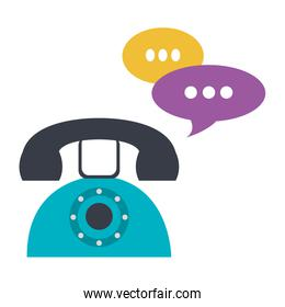 telephone with speech bubbles