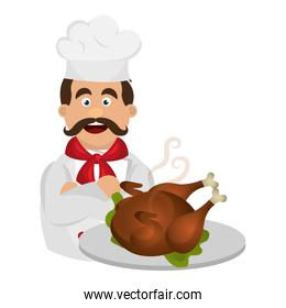 chef with chicken character