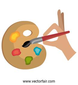 paint brush and pallette
