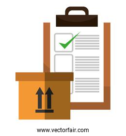 delivery carton packing with checklist