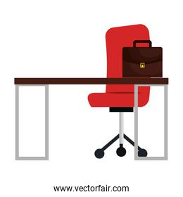 office workplace isolated icon