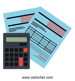 calculator math with documents
