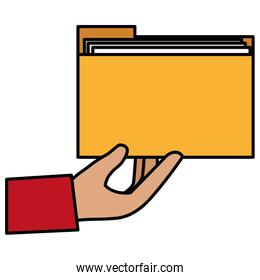 hand with file folder