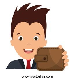 businessman with wallet money