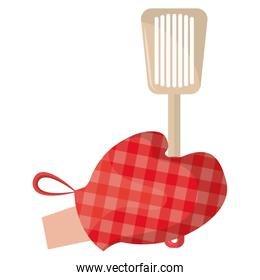 glove kitchen with spatule isolated icon