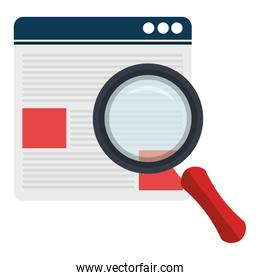 documents with magnifying glass