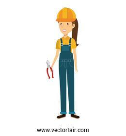 construction worker woman avatar character
