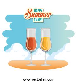 summer enjoy with cocktail