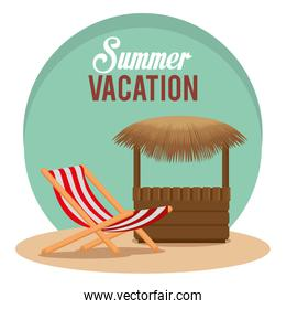 summer vacations with beach chair