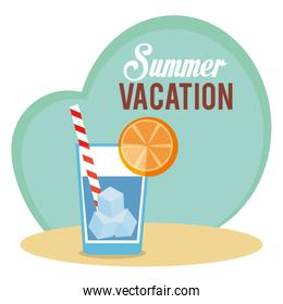 summer vacations with cocktail