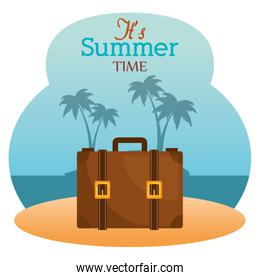 summer time with suitcase