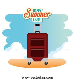 summer enjoy with suitcase