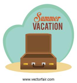 summer vacations with suitcase