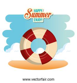 summer enjoy with float