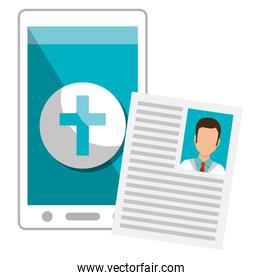 smartphone with medical curriculum
